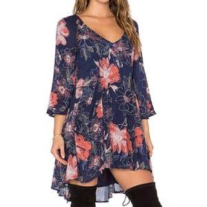 Free People | Eyes On You Floral Tunic Boho Dress